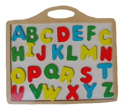 Picture of Magnetic board with letters