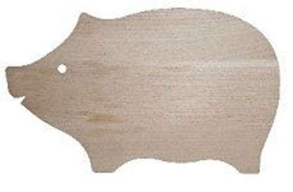Picture of wooden cutting board - pig