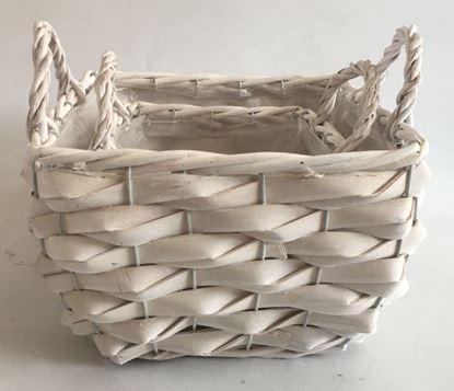 Immagine di Cestino con fodera idrorepellente set 1/2 Color bianco